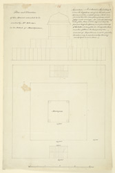 Plan of Mr Robertson's Mound, Masulipatam, intended to display the sculptures from Amaravati